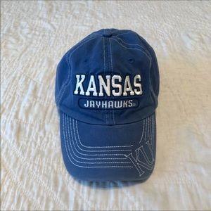 Vintage KU Jayhawks Baseball Hat Cap Kansas Retro